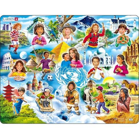 Springbok Larsen Children of the World Children's Jigsaw Puzzle 15pc - image 1 of 3