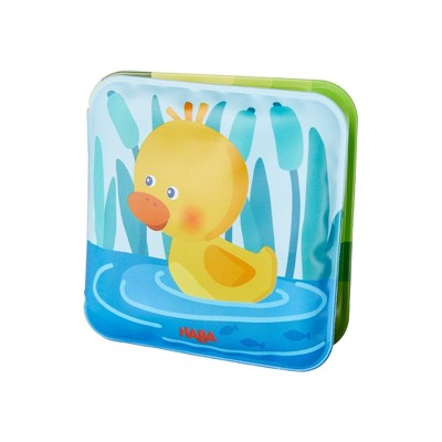 HABA Mini Bathtime Book Albert The Duck with Squeaker Effect