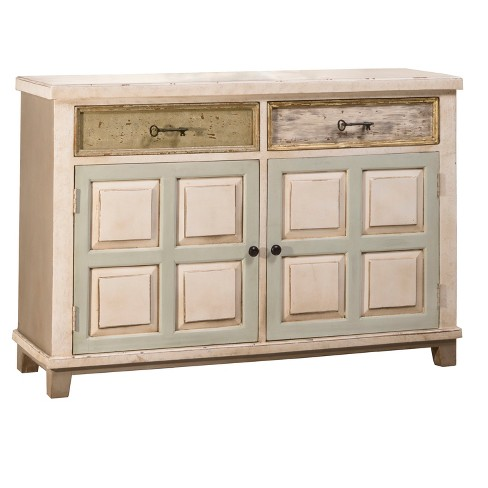 Larose Two Door Cabinet - Rustic White/Gray - Hillsdale Furniture - image 1 of 4