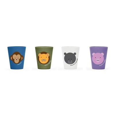 Red Rover 8oz 4pk Bamboo Kids' Animal Cups