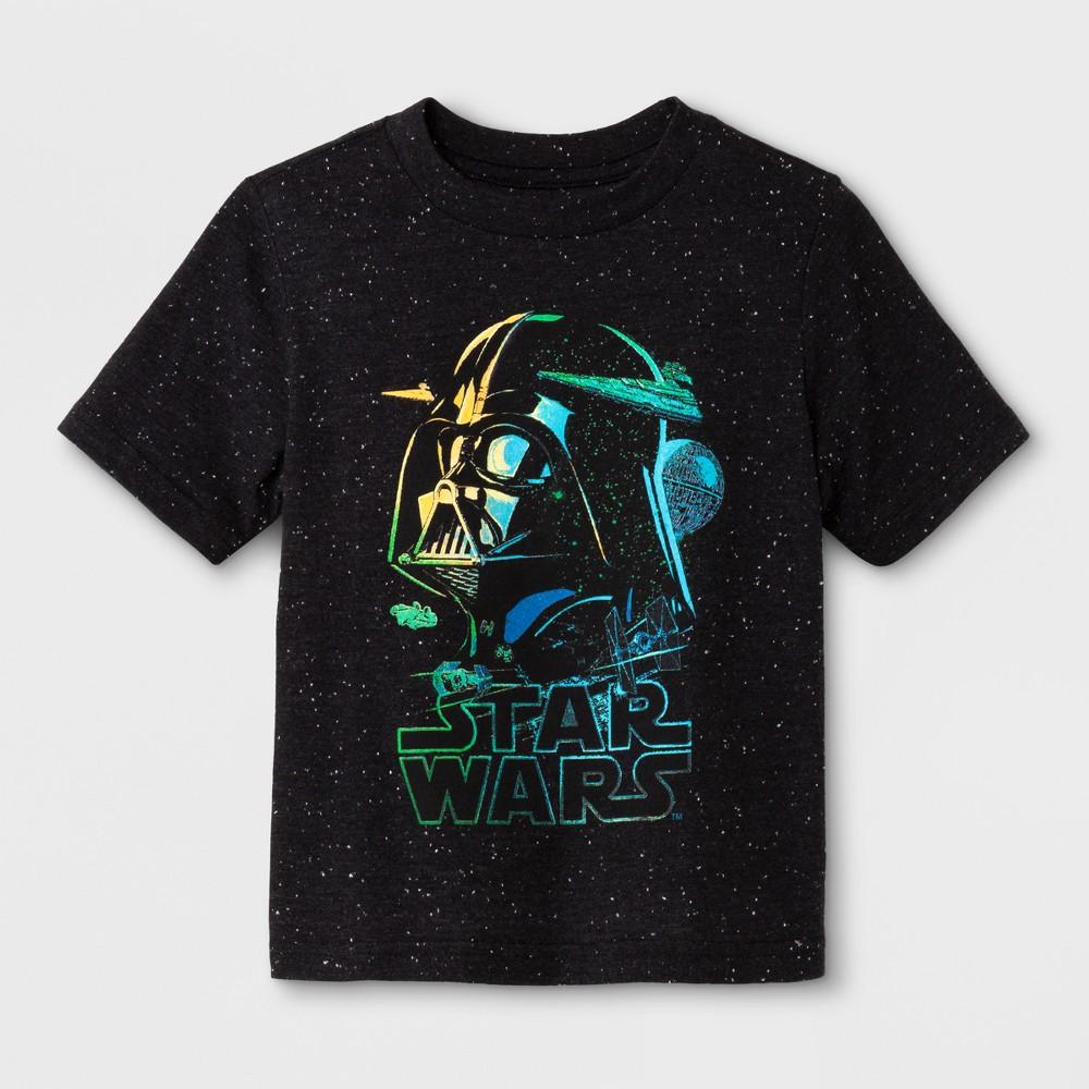 Toddler Boys' Star Wars Darth Vader Short Sleeve T-Shirt - Black 3T