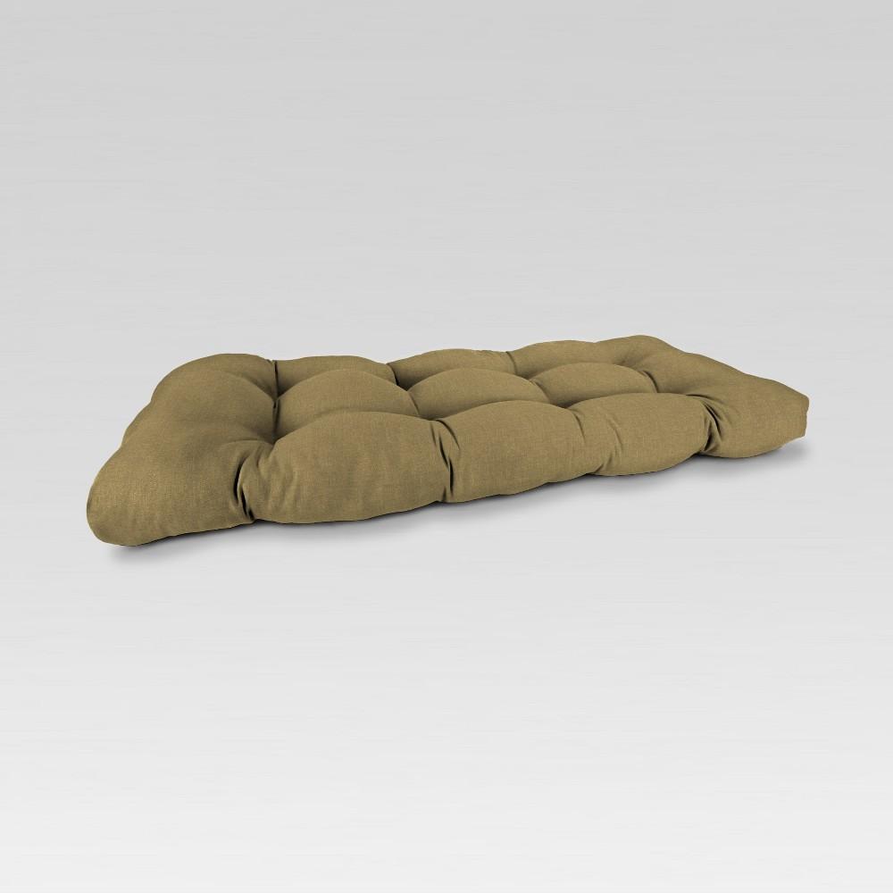 Outdoor Wicker Loveseat Cushion - Moss Green - Jordan Manufacturing