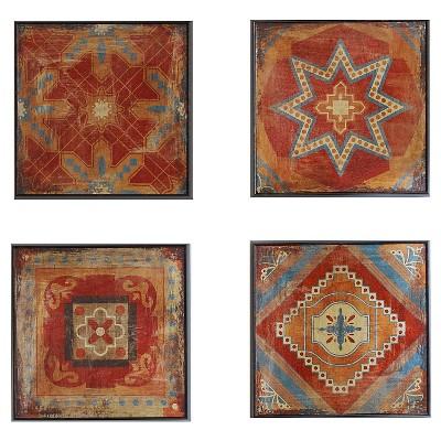 Moroccan Tile Gel Coat Deco Box 4 Piece Set