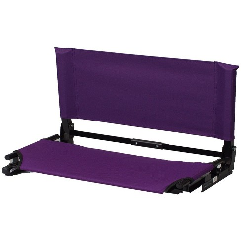 Stadium Chair Deluxe Game Changer Portable Folding Canvas Bleacher Seat, Purple - image 1 of 1