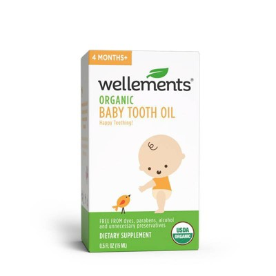 Wellements Organic Baby Tooth Oil - 0.5 fl oz