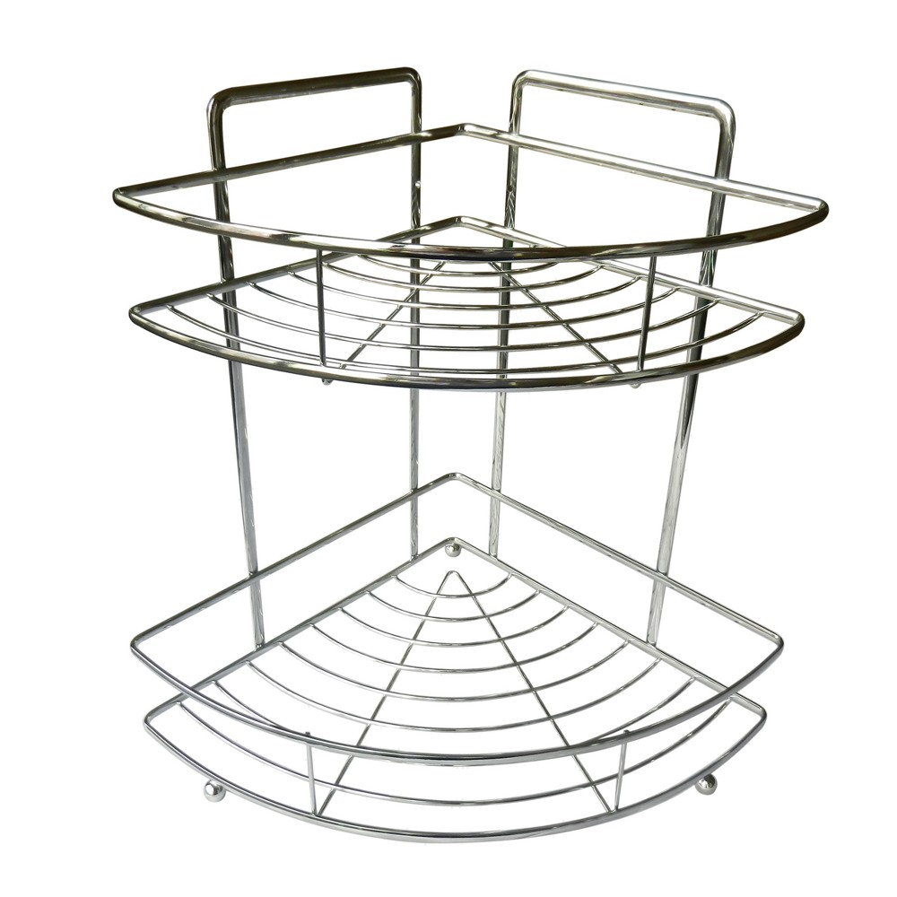 Image of 2 Level Shower Caddy Light Silver 13.35 - Elegant Home Fashions