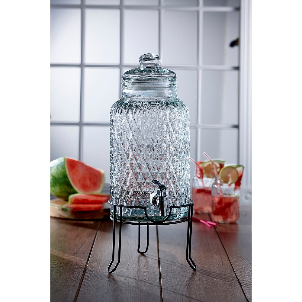 American Atelier Quilted Beverage Dispenser Clear