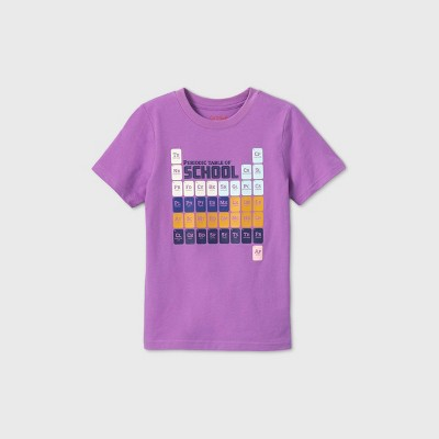Kids' Short Sleeve Periodic Table Graphic T-Shirt - Cat & Jack™ Purple