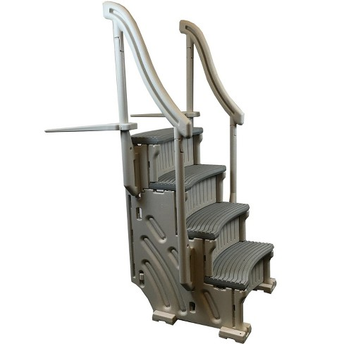 Confer CCXAG Gray 4-Step Above Ground Swimming Pool Grand Entry Steps Staircase - image 1 of 4