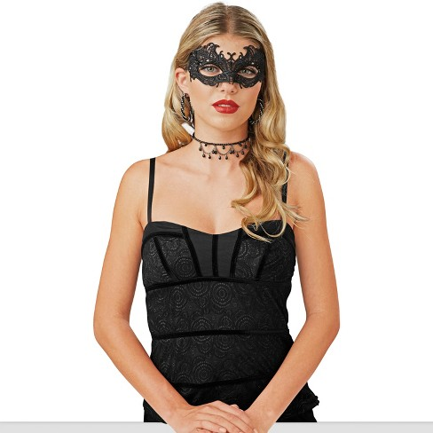 Adult Basic Black Lace Masquerade Mask - Hyde and Eek! Boutique™ - image 1 of 1
