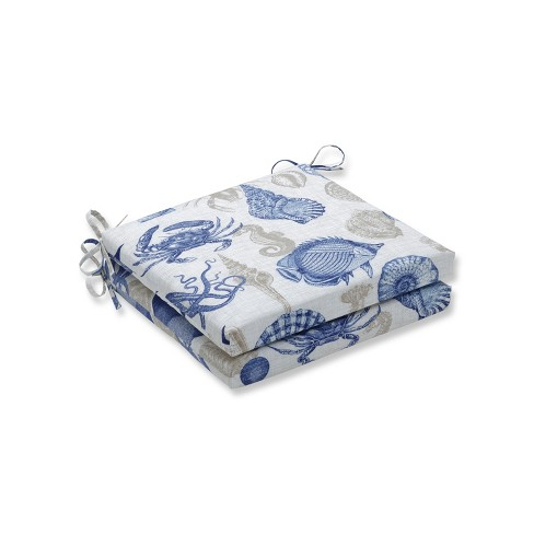 Sealife Marine 2pc Indoor/Outdoor Squared Corners Seat Cushion - Pillow Perfect - image 1 of 1