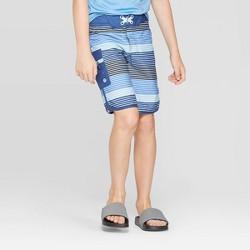 Boys' Stripe Swim Trunks - art class™ Blue