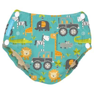 Charlie Banana Reusable Easy Snaps Swim Diaper - Gone Safari (Assorted Sizes)