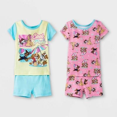 Toddler Girls' 4pc PAW Patrol Snug Fit Pajama Set - Blue
