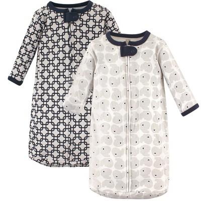 Hudson Baby Infant Boy Cotton Long-Sleeve Wearable Sleeping Bag, Sack, Blanket, Elephant