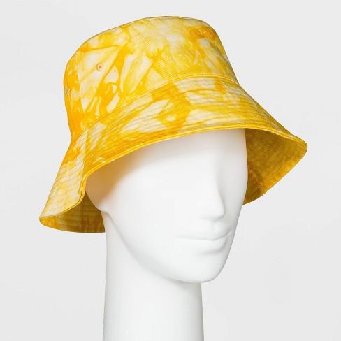 Women's Tie-Dye Bucket Hat - Wild Fable™ Yellow - image 1 of 1
