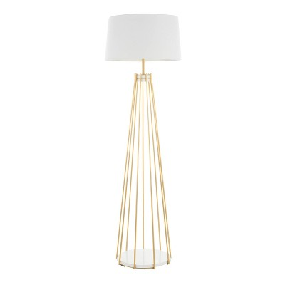 Canary Contemporary Floor Lamp with Metal Shade White (Includes LED Light Bulb) - LumiSource
