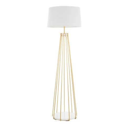 Canary Contemporary Floor Lamp with Metal Shade White (Includes LED Light Bulb) - LumiSource - image 1 of 4