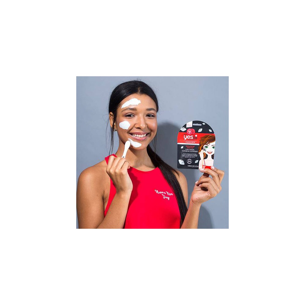 Yes To Tomatoes Detoxifying Charcoal 3-in-1 Mask Scrub Cleanser Single Use Facial Cleanser