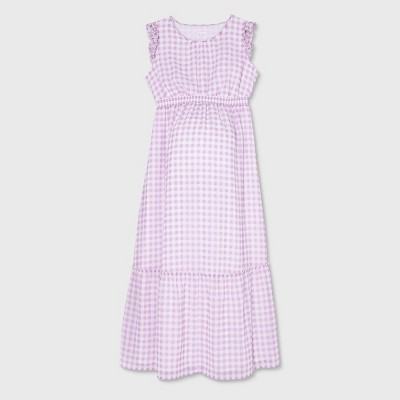 Ruffle Cap Sleeve Woven Maternity Dress - Isabel Maternity by Ingrid & Isabel™