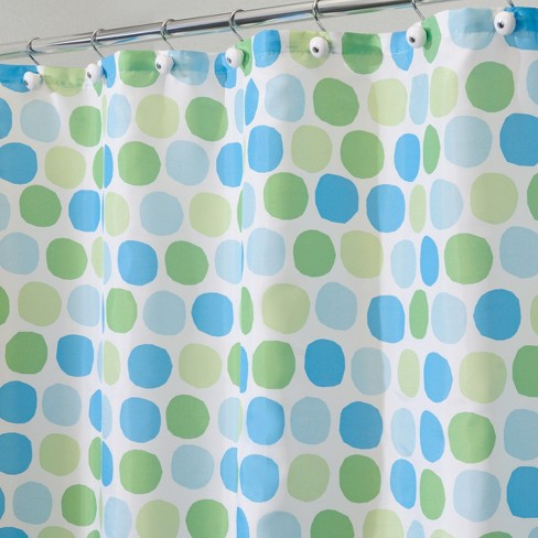 Rialto Polyester Shower Curtain Blue Green