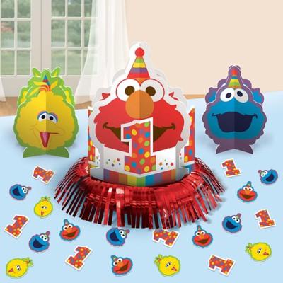 Birthday Express Sesame Street Elmo Turns One Table Decorating Kit