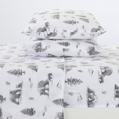 Great Bay Home 100% Cotton Flannel Lodge Printed Sheet Set