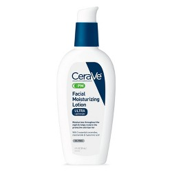 CeraVe PM Facial Moisturizing Lotion for Nighttime Use Ultra Lightweight Night Cream - 3 fl oz