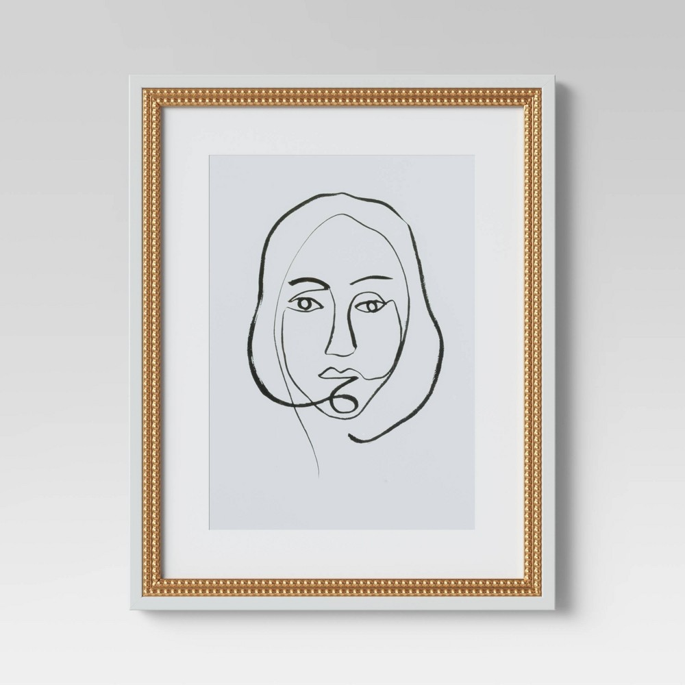"Image of ""16""""X20"""" Line Portrait Framed Print - Opalhouse"""