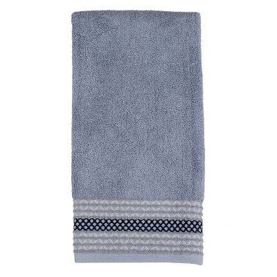 """SKL Home Cubes Stylish Embroidered Diamond Patterned Terry Hand Towel - 26""""X16"""""""