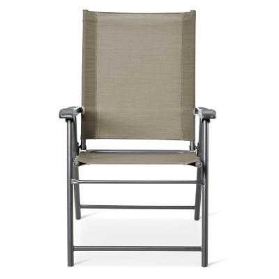 Sling Folding Patio Chair - Gray - Threshold™