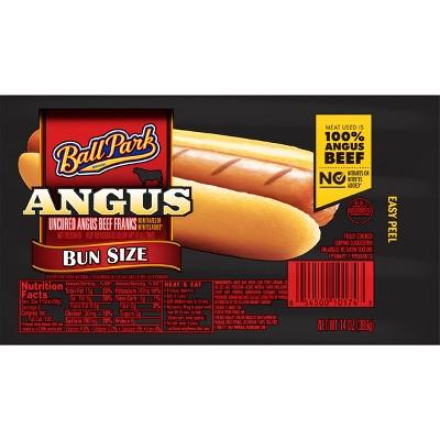 Ball Park Bun Size Uncured Angus Beef Franks - 14oz/8ct
