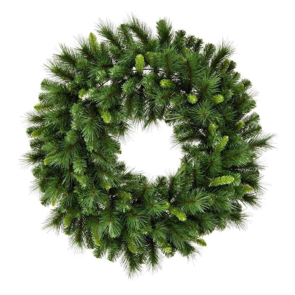 "Image of ""Vickerman 60"""" Bangor Mixed Pine Wreath with 816 Tips"""