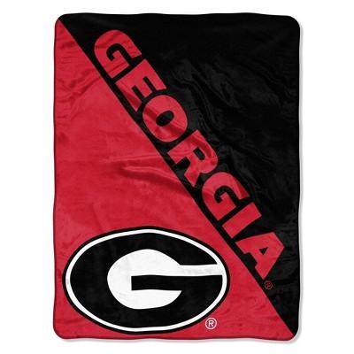 NCAA Georgia Bulldogs Micro Fleece Throw Blanket