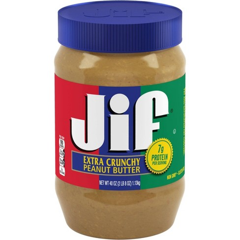 Jif Extra Crunchy Peanut Butter - 40oz - image 1 of 4