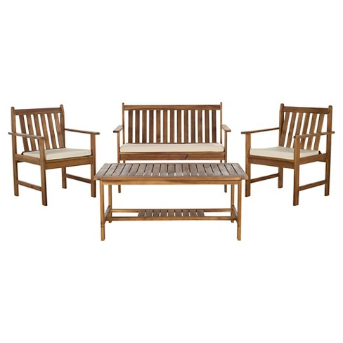 Cyprus 4-Piece Patio Conversation Furniture Set - Safavieh® - image 1 of 2