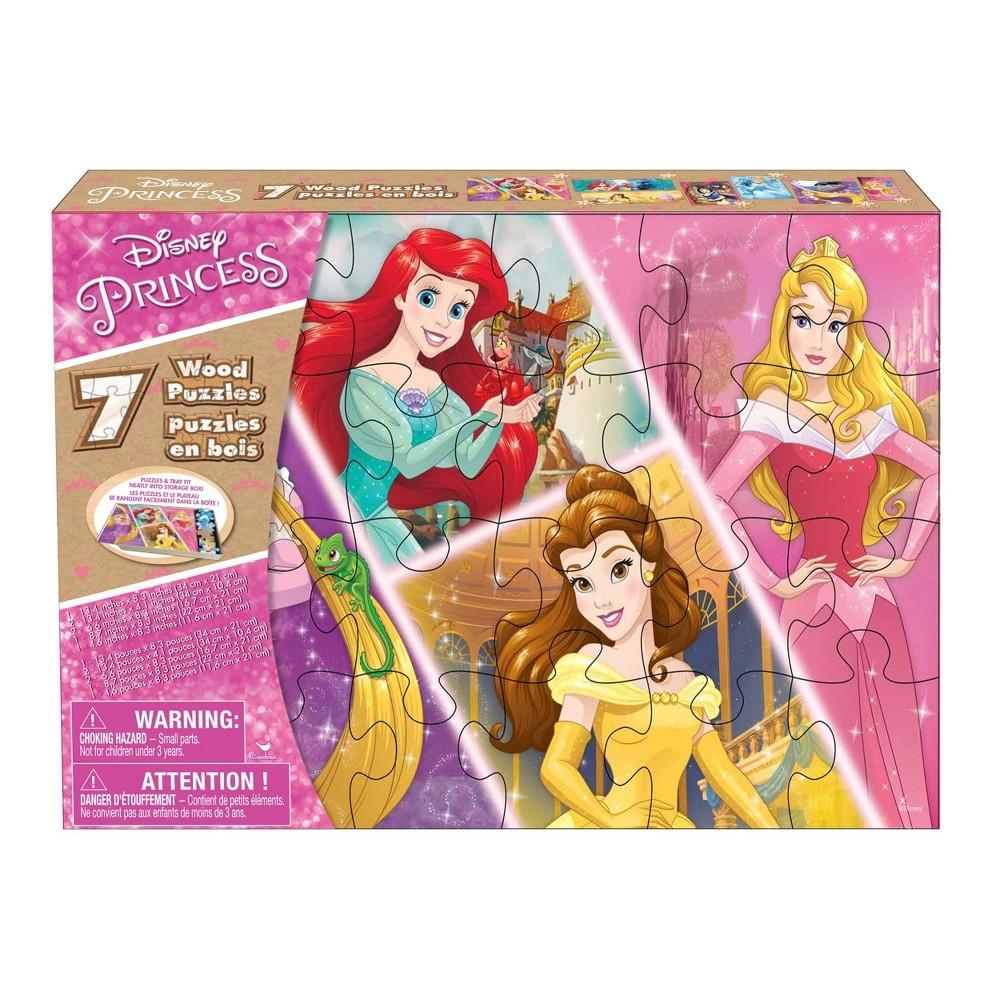 Cardinal Disney Princess: 7pk Wood Puzzle 108pc