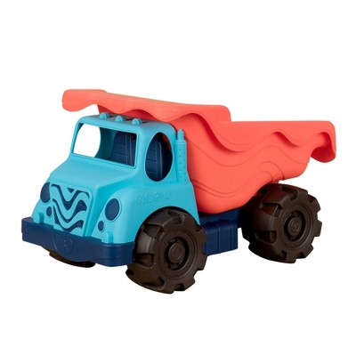 B. toys Large Toy Dump Truck - Colossal Cruiser Red/Blue