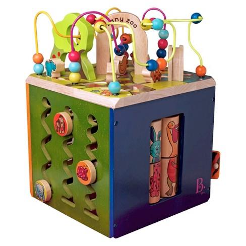 b toys zany zoo wooden activity cube target