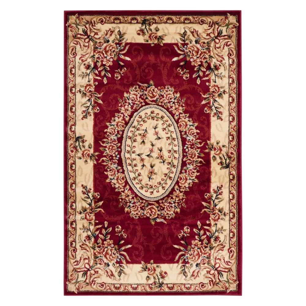 33X53 Medallion Loomed Accent Rug Red/Ivory - Safavieh Best