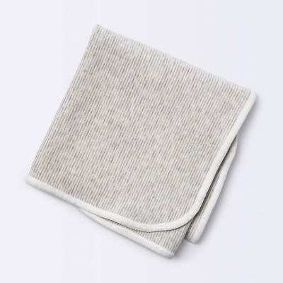 Brushed Jersey Stroller Blanket Stripe - Cloud Island™ Gray