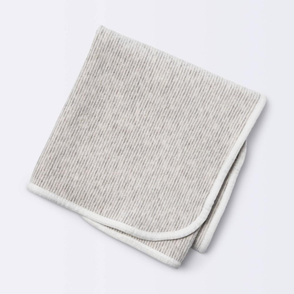 Brushed Jersey Stroller Blanket Stripe Cloud Island 8482 Gray