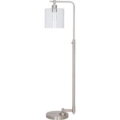 Hudson Industrial Floor Lamp Nickel Lamp Only - Threshold™