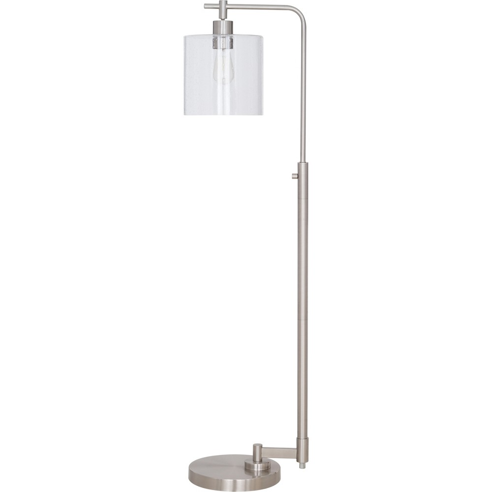 Image of Hudson Industrial Floor Lamp Nickel Includes Energy Efficient Light Bulb - Threshold