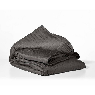 """48"""" x 72"""" Cooling 15lbs Weighted Blanket with Removable Cover Gray - Gravity"""