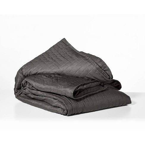 48 X 72 Cooling 15lbs Weighted Blanket With Removable Cover Gray Gravity Target