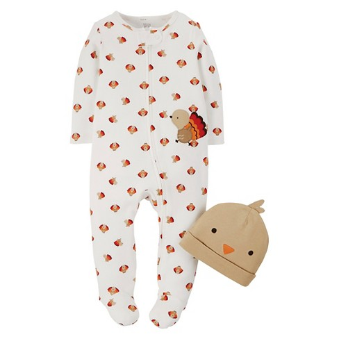 fbb2ed44b623 Baby Turkey And Hat Footed Sleeper 2pc Set - Just One You™ Made By ...