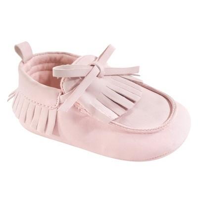 Hudson Baby Infant Girl Moccasin Shoes, Light Pink
