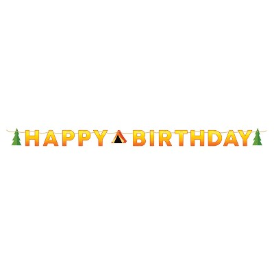 """Happy Birthday"" Camping Party Banner"