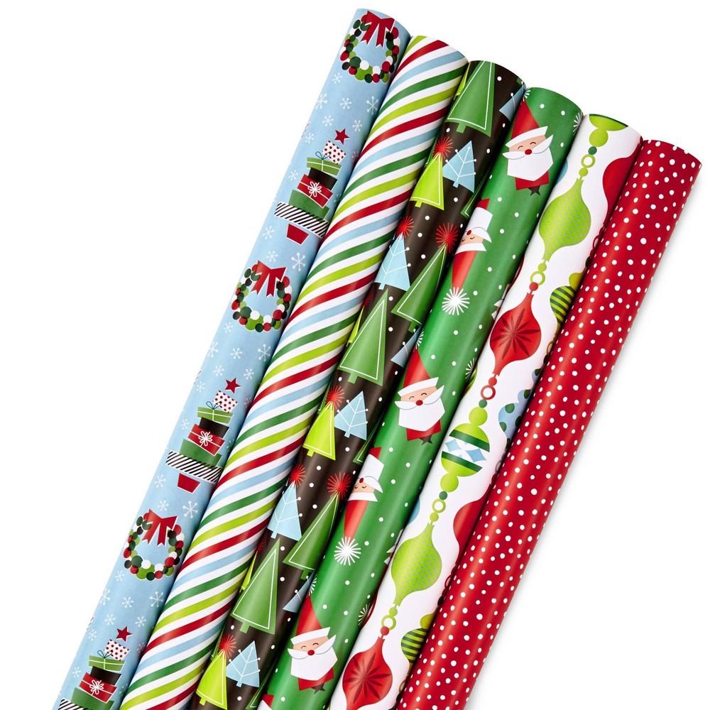 Image of 6ct/180 sq ft Hallmark Christmas Gift Wrap